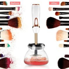 Today offers the nest make up mirrors with LED lights for your make up & also offers the best professional makeup brushes & electric brush cleaners for your vanity kit. Make Makeup, How To Clean Makeup Brushes, I Love Makeup, Amazing Makeup, Best Professional Makeup Brushes, Spin, Hollywood Makeup Mirror, Mirror With Led Lights, Makeup Brush Cleaner