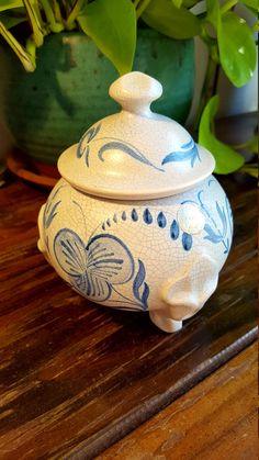 Swedish Hand painted ceramic pot