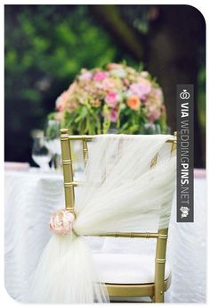 Awesome! - wedding decoration ideas for chairs . I like how it's different other then just a big tied bow in the back | CHECK OUT SOME GREAT PHOTOS OF GREAT WEDDING DECOR TRENDS 2016 HERE AT WEDDINGPINS.NET | #weddingdecor2016 #weddingdecor #decor #2016 #trends #weddings #weddingvows #vows #tradition #nontraditional #events #forweddings #iloveweddings #romance #beauty #planners #fashion #weddingphotos #weddingpictures