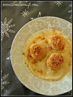 Noix de Saint-Jacques poelées, crumble de noisettes et purée fine de céleri | En cuisine... avec Myl !