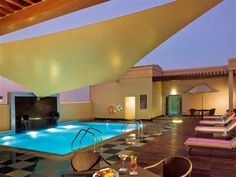 Mercure Gold Hotel Al Mina Road Dubai - Located a brief drive from Jumeirah Beach, Mercure Gold Hotel Al Mina Road Dubai provides modern accommodation in Dubai. Those staying at the property have access to a spa, a fitness centre and a heated pool.  The hotel has panoramic city views, plus 24-hour room service, a coffee bar and valet parking. Staff are available 24/7 and can assist with booking tours and tickets.  The rooms include a private bathroom, a flat-screen TV, slippers and feature…