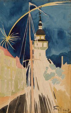 LÉON SPILLIAERT | OBUS SUR OSTENDE | Impressionist & Modern Art Day Sale2020 | Sotheby's
