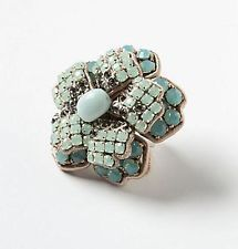 Anthropologie Peppermint Bloom Ring