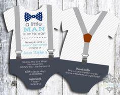 Little Mister Baby Shower Invitation Suspenders di SweetCartolina