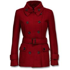 Elegant, quilted coat in a soft wool blend, with striking double-breasted closure and flap pockets with buttons. The collar is finished with tabs with buttons. Follow the new season's trend and get into military mode. - at Mexx Online Store Europe