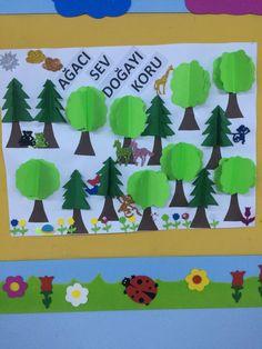 Orman haftası okul öncesi sanat etkinliği