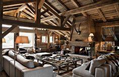 Natural Chalet Living Room Designs