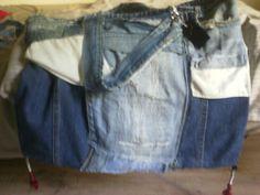 Shabby chic Taschen aus Jeansstoff selbst entworfen und gefertigt!! 50,00 €
