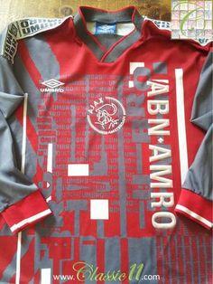 1996 97 Ajax Football Training Shirt (S). Vintage football shirtsPatrick  KluivertEdgar ... 18b7e5602