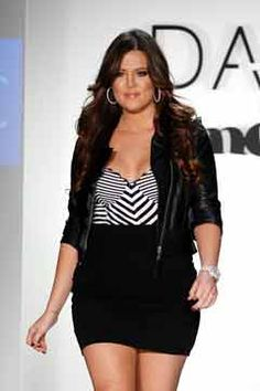 Khloe Kardashian because she loves her body and who she is and isn't afraid to say it!  Love her!!!!