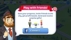 Game GUI Connect FB Popup #game #gui #connect #fb #popup Fb Login, Game Gui, Invite Friends, Surprise Gifts, Mobile Game, Save Yourself, Texts, Connection, Invitations
