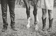 North Carolina Farm Engagement {Kelly Rae Stewart Photography} Brittney and Ryan, a teacher and musician respectively, had their engagement photo session at Brittney's family farm among her horses and the beautiful wildflowers.
