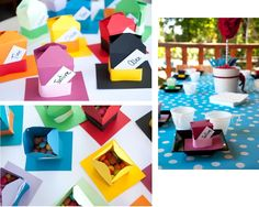 Alice in Wonderland Birthday Party - Favors/place settings