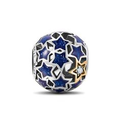 NinaQueen *Starry Night* 925 Sterling Silver Openwork Charms Fits Pandora Bracelet**Star Jewelry**Vintage Pendent Blue Stars, Romantic Gifts for her**Mothers Day Gift for Mothers** -- Continue to the product at the image link. (This is an affiliate link and I receive a commission for the sales)  #JewelryForSale