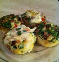 These egg white muffins are incredibly simple to make and great for an on the go breakfast. In this version I used about 1/4 cup organic baby spinach, 1/4 cup white mushrooms, and a small piece of ...