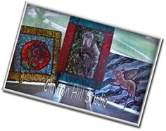 fused stained glass (or vitri-fusaille) tiles