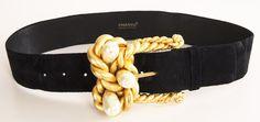 Chanel Black Suede Waistbelt
