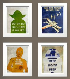 for Max's new room: Finding Etsy Inspiration To Redecorate A Boy;s Room Star Wars Style