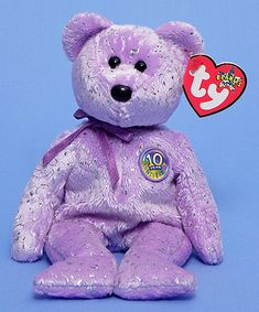 Decade (purple) - Bear - Ty Beanie Babies
