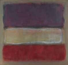 Untitled (Purple, White, and Red), 1953 Mark Rothko