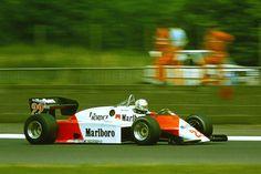 andrea de cesaris | Andrea de Cesaris - Alfa Romeo 183T during practice for the 1983 British GP, Silverstone.