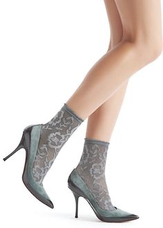 Oroblu Lorelie Lace Ankle Highs