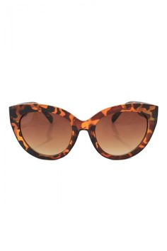 Thick Plastic Frame Fashion Cateye Sunglasses