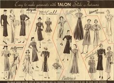 Talon Slide Fasteners in Fashion - So many ways to use zippers! #vintagenotions #zippers #dressmaking