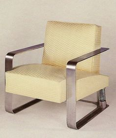 Louis Sognot, Chrome-Plated Steel Lounge Chair, 1925.