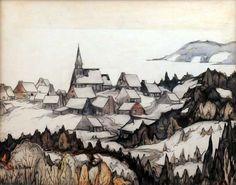 Scène d'hiver (c. 1943) - Marc-Aurèle Fortin
