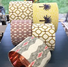 Our custom made lamp shades. For more information click on the link https://www.evasonaike.com/