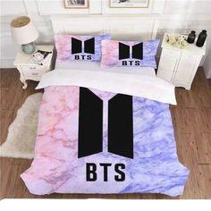 BTS Duvet Cover Pillow Cases Cover Set Single/Double/King Bedding Set new 357 Army Room Decor, Bedroom Decor, Mochila Do Bts, Bts Army Logo, Bts Clothing, Bts Birthdays, Quilt Material, King Bedding Sets, Bts Merch