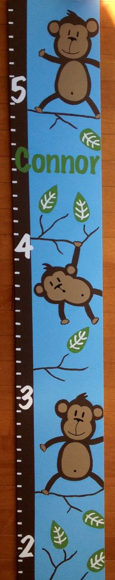 """Skinny Size """"Monkeys in a Tree"""" Growth Chart Find us on Facebook! Search """"growing monsters"""""""