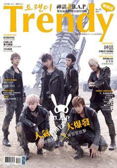 B.A.P graces cover of Hallyu magazine, 'Trendy' #allkpop #kpop #BAP