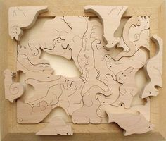 ANIMAL JIGSAW PUZZLE Wooden Toys (Ginga Kobo Toys) Japan