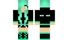 minecraft skin Blue-Enderman-Girl Find it with our new Android Minecraft Skins App: https://play.google.com/store/apps/details?id=the.gecko.girlskins