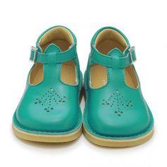 Mini Lottie, Marine Blue Leather Girls Buckle Classics - Girls Shoes