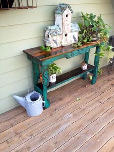 DIY Pallet Entry Way Table - Sofa Side Table   101 Pallets