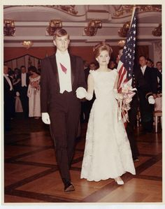 Tricia Nixon with her escort, Edward Cox, at The International Debutante Ball, New York, 1964.