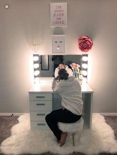 Glamorous LED Lighting Hollywood Glam Mirror (FS) - Storage and Organization Cute Room Decor, Room Decor Bedroom, Girls Bedroom, Bedroom Ideas, Master Bedrooms, Bedroom Designs, Light Bedroom, Diy Bedroom, Bedroom Storage