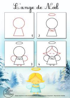 Dessin2_Comment dessiner un ange de Noël ?