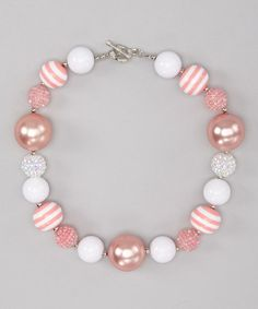Take a look at this Light Pink Fairytale Necklace by Three Bears Hair Bows on #zulily today!