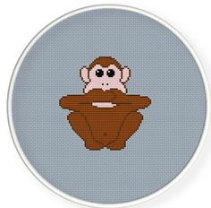 Buy 4 get 1 free ,Buy 6 get 2 free,Counted Cross stitch pattern,Cross-Stitch PDF,three monkeys , Not comment , zxxc0193. $4.00, via Etsy.