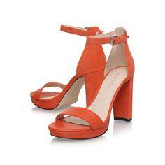 6c07dc667de Dempsey Orange High Heel Sandals from Nine West Orange High Heels