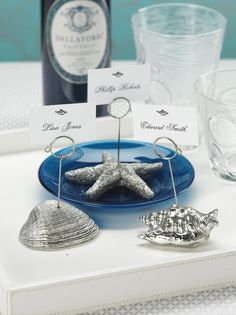Sea Icon Place Card Holders - Set of Six #coastal #beach #placecardholders #dining #entertaining #tableware #home #decor #homedecor #starfish #fish #shells #placesettings #tablesettings http://www.carlyleavenue.com/collections/whats-new/products/sea-icon-place-card-holders-set-of-six