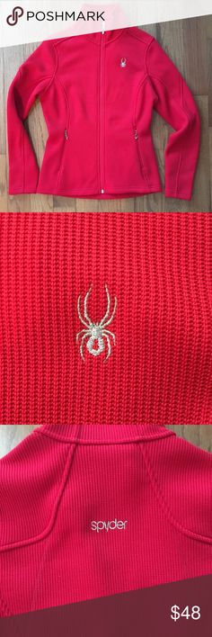 Spyder red core sweater sz M Red Spyder brand zip up fleece core sweater. Very well made, however I find this brand to run a tad bit small. Size Medium. Spyder Jackets & Coats