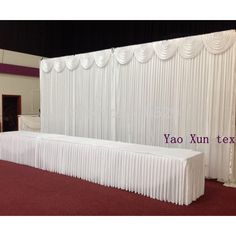 cheapest price white color wedding backdrop curtain stage background