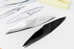 Products we liek / Knife / Polygones / Surface / White / Black / Sketch / IP Knife by  Klivisson Campelo/ at designbinge