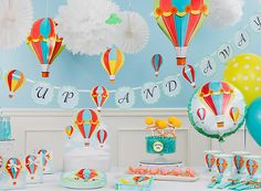 Up Up and Away Baby Shower Ideas