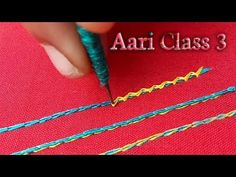 Hi Friends, In this class let's see about three different kind of stitches by using silk thread. This stitches very useful for Beginners. Hand Embroidery Videos, Embroidery Works, Hand Embroidery Stitches, Hand Embroidery Designs, Saree Tassels Designs, Saree Kuchu Designs, Blouse Designs, Zardosi Embroidery, Tambour Embroidery